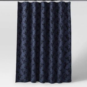 Project 62 Blue Floral Shower Curtain
